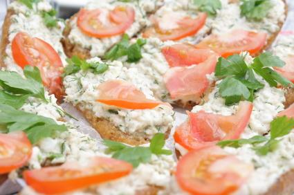 Sardine canapes