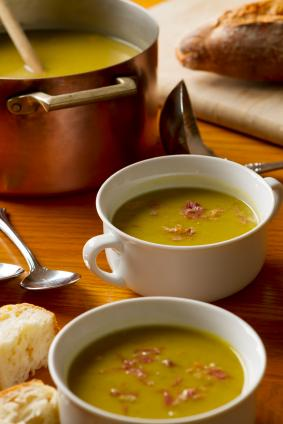 Split pea with ham soup
