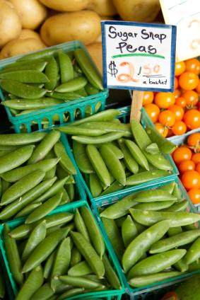 Sugar snap peas at the farmer's market