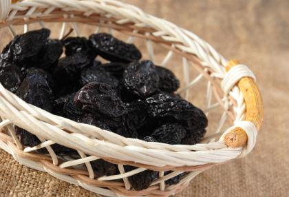 Prunes in a basket