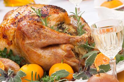 Turkey with garnishes