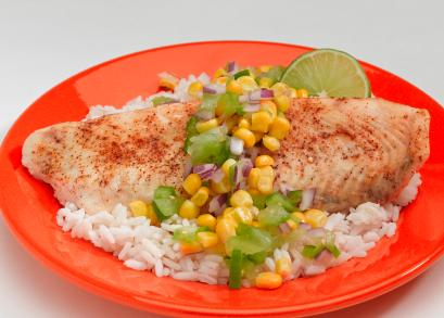 Fish with salsa