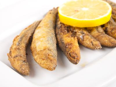 Fried sardines