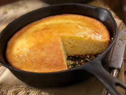 Cornbread in Cast Iron Skillet