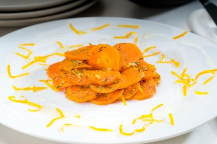 Glazed carrots with spices