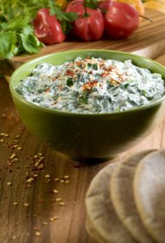 Spinach, bacon and feta dip; © cobraphoto | Dreamstime.com