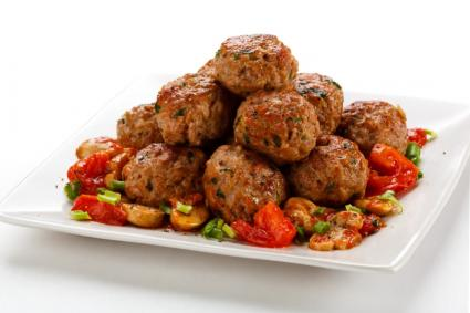 meatballs with vegetables