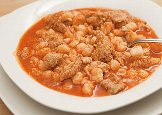 Hearty dish of pozole