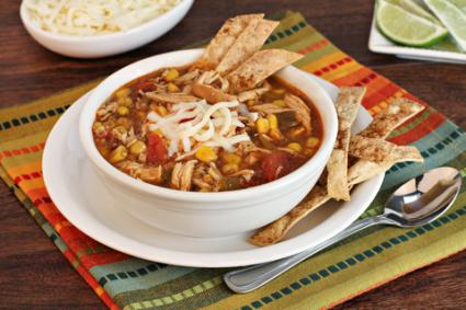 Chicken tortilla soup © Rosemary Buffoni | Dreamstime.com