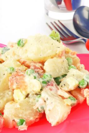 pea and potato salad