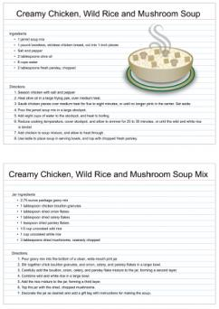 creamy chicken, wild rice and mushroom soup mix