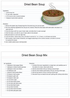 Dried bean soup mix