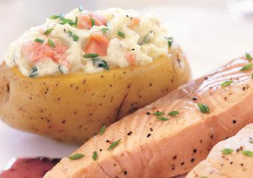 salmon stuffed baked potato