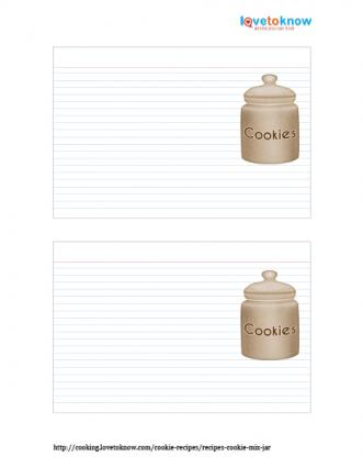 Printable blank cookie recipe cards