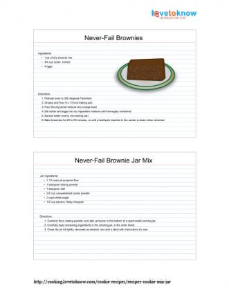 Printable Never-Fail Brownies in a Jar Recipe