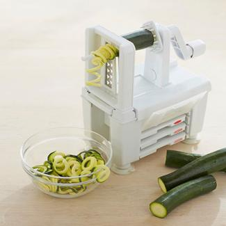 Paderno Spiralizer 4-Blade and Spiralizer Book