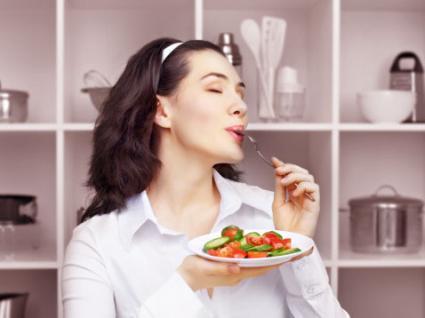 Savoring the taste of food