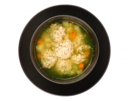 Turkey soup with meatballs