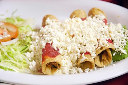 Chicken Enchiladas with Questo Fresco Topping