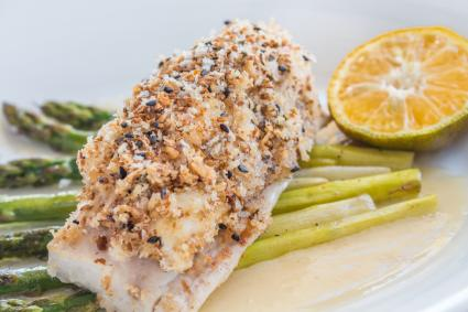 Crusted fish