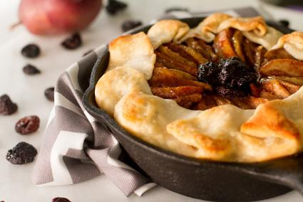 Pear and dried cherry rustic tart