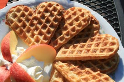 Simple cast iron waffles