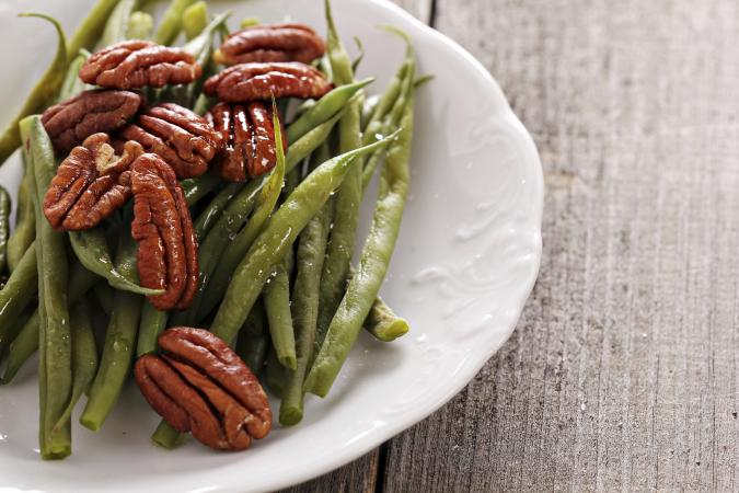 Green beans and pecans