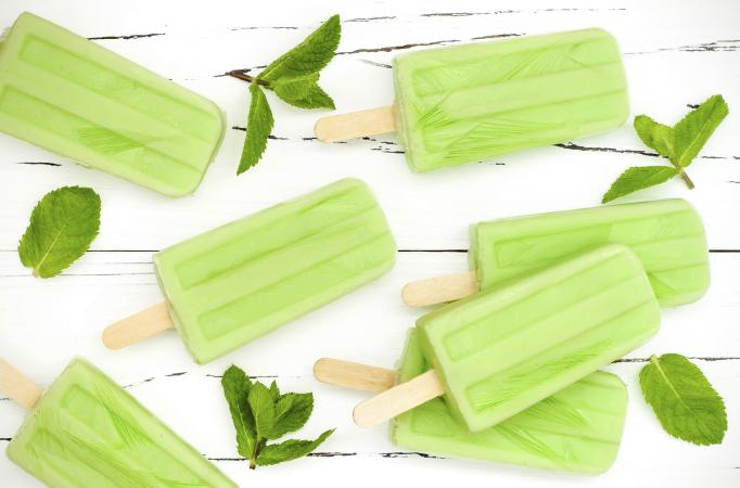 Coconut matcha popsicles