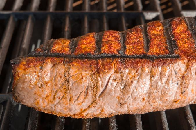 charcoal grilled steak