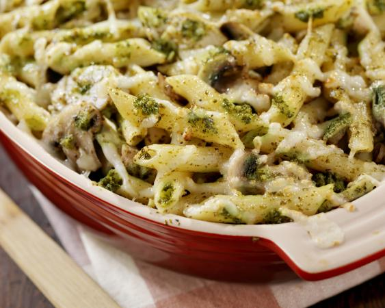 Chicken Pesto Penne Bake