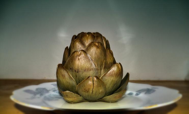 boiled artichoke