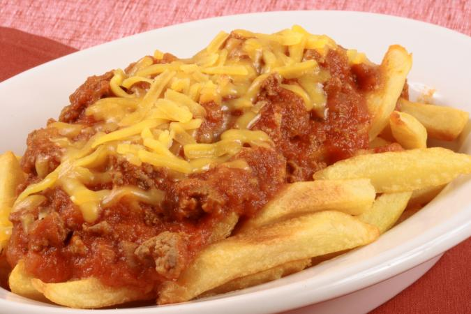 Gourmet chili fries