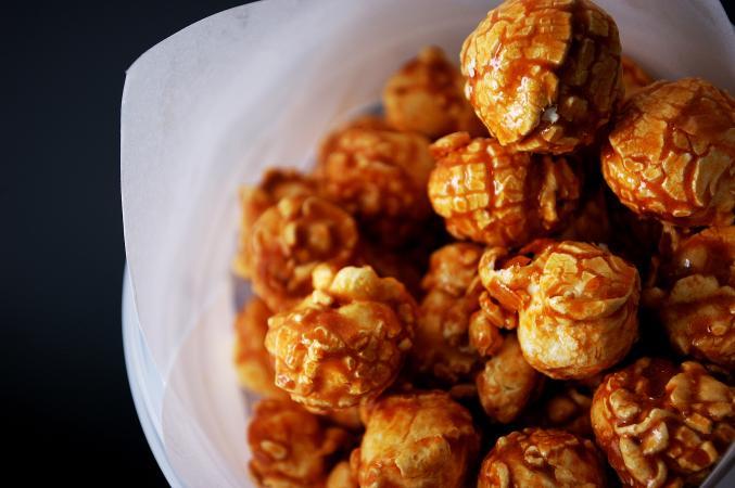 Closeup of caramel corn