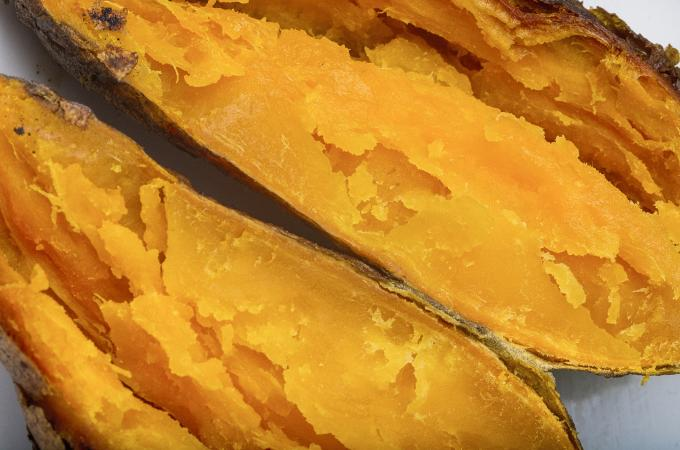 Cooked yellow sweet potato