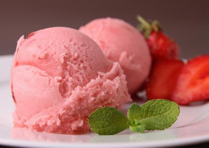 Strawberry Milk Sherbet