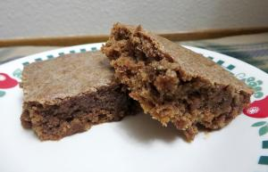 plain cake-like brownies