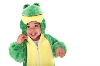 boy in frog costume