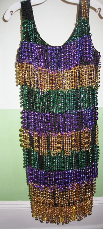 beaded Mardi Gras dress
