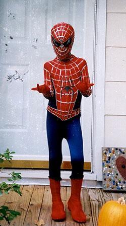 homemade spider man costume