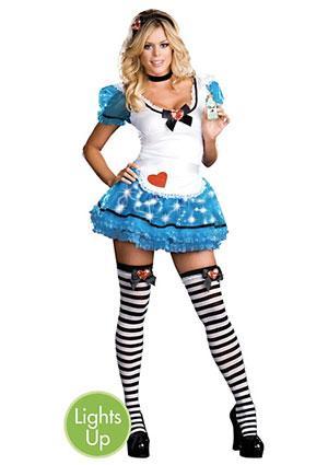 Adult Wonderland's De-Light Light-Up Alice Costume
