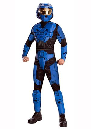 Deluxe Blue Spartan Costume