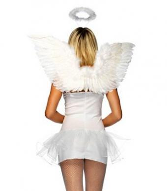 White Wings and Halo Set from Costume Supercenter