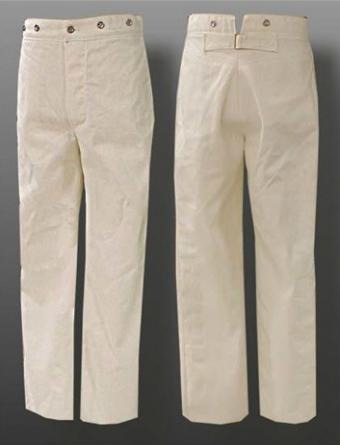 Navy Cotton Duck Trousers