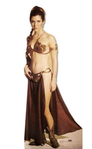 Princess Leia in Slave Costume Lifesize Standup
