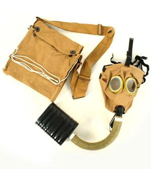 WW1 US Gas Mask with Box Respirator