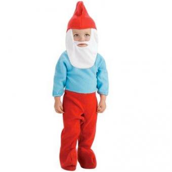 Toddler papa smurf