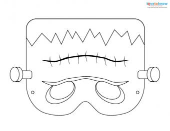 Printable Halloween Masks 2 Frankenstein