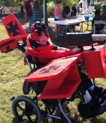 Red Baron Airplane Wheelchair Costume