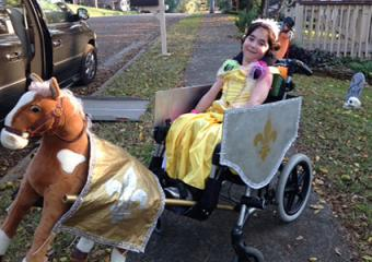 Princess Belle and Chariot Wheelchair Costume