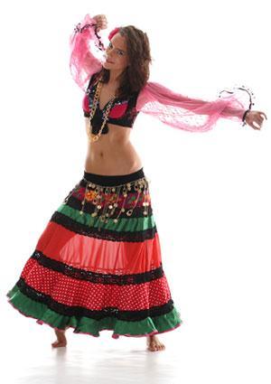 Gypsy woman dancing